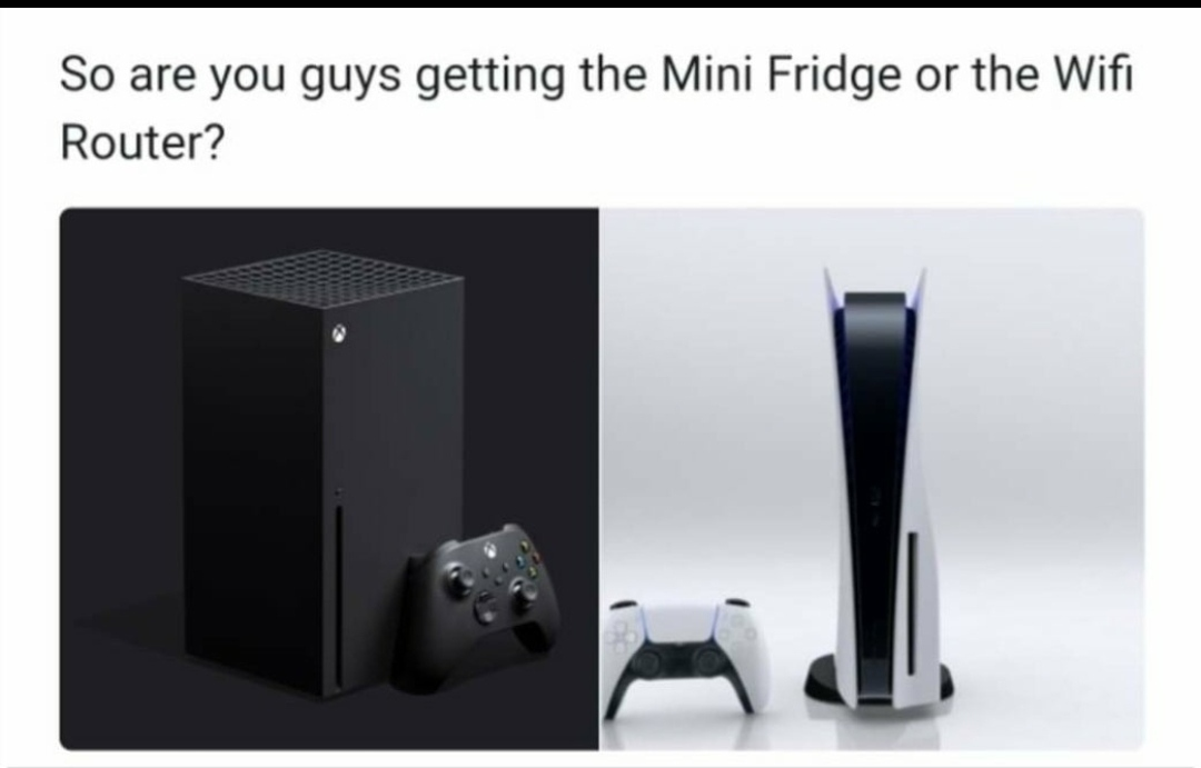 Fridge or router - meme