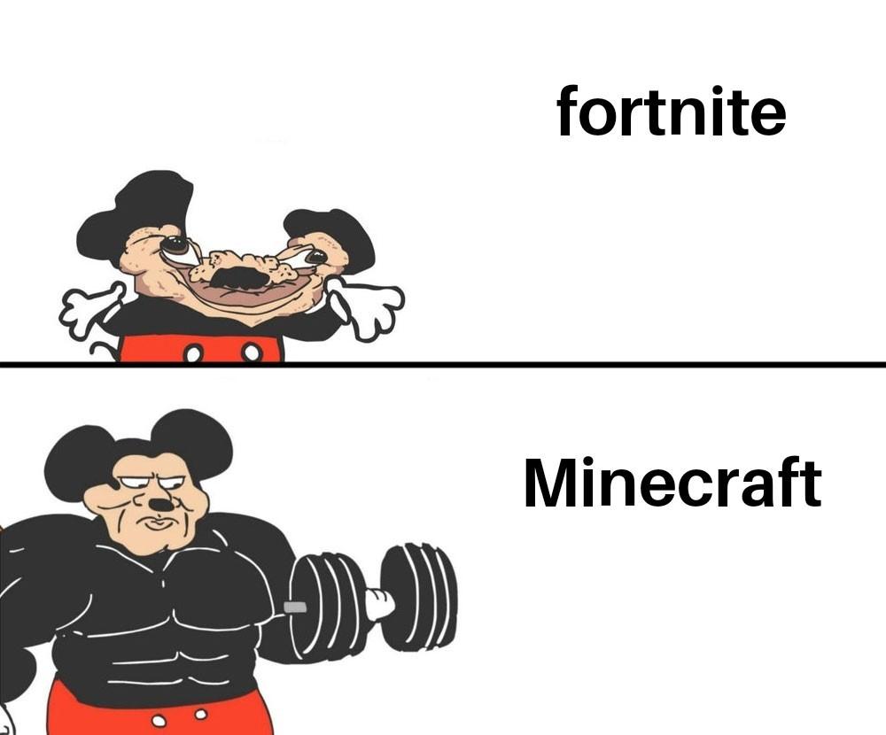 Minecraft vs fortnite - meme
