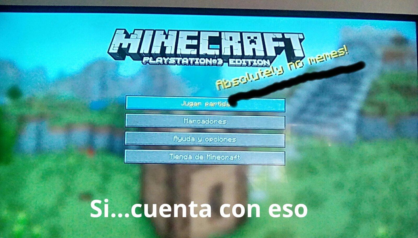 Minecraft sabe ( →_→) - meme