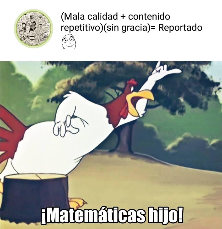 El autor se fue a estudiar matemática porque mañana tiene examen :v - meme