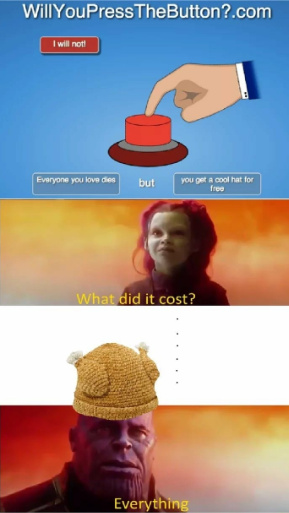 Will you push the button? - meme