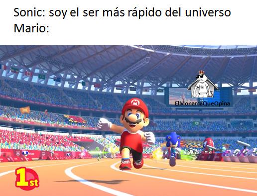 Mario es mas rapido que el zonik confirmado - meme