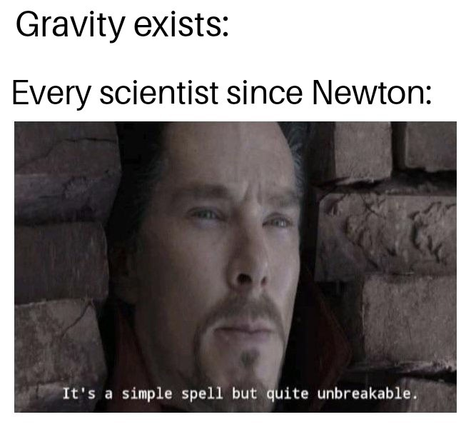 Gravity is just a theory - meme