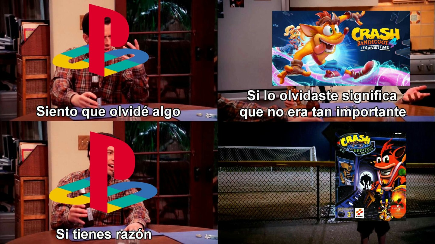 Se olvidaron de q el 4 era wrath of cortex - meme