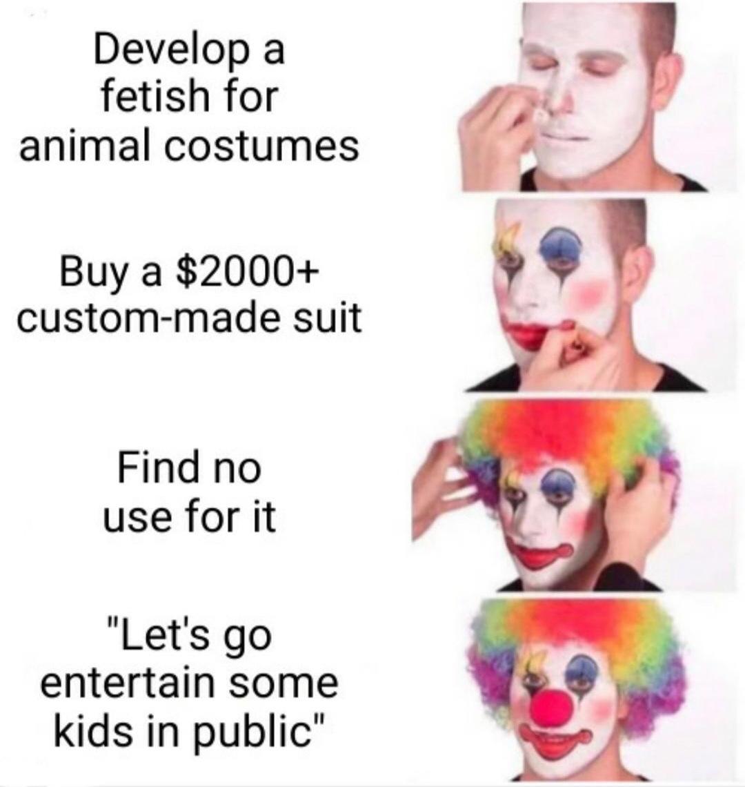 furry clowns - meme