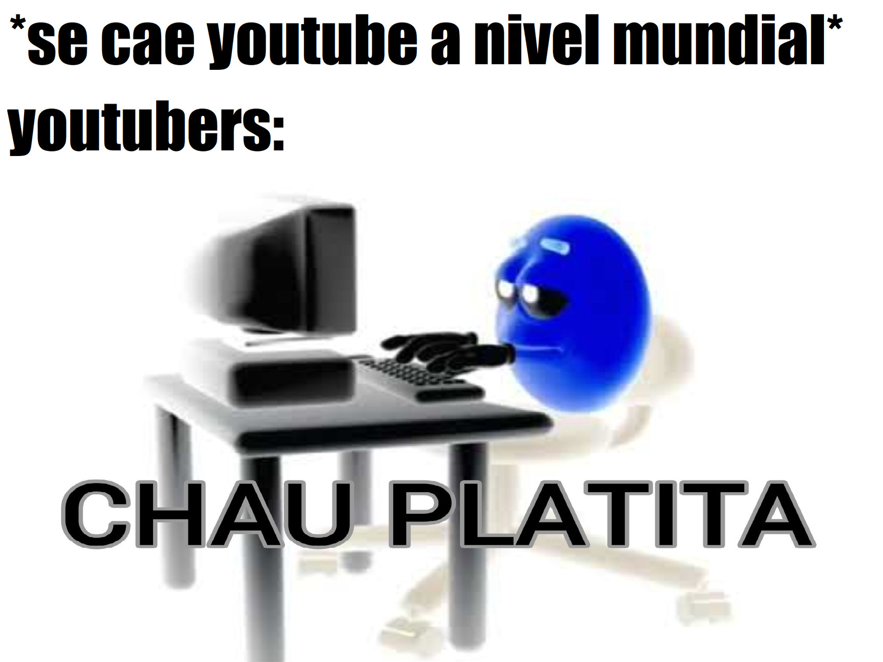 ayer se cayó youtube - meme