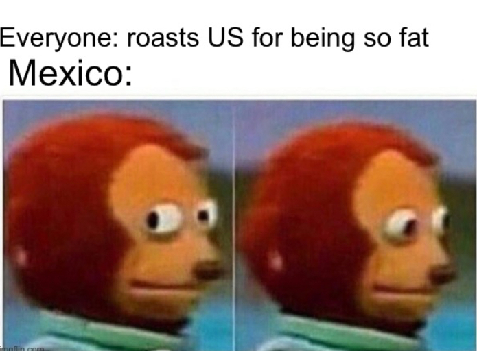 Mexico is the fattest country - meme