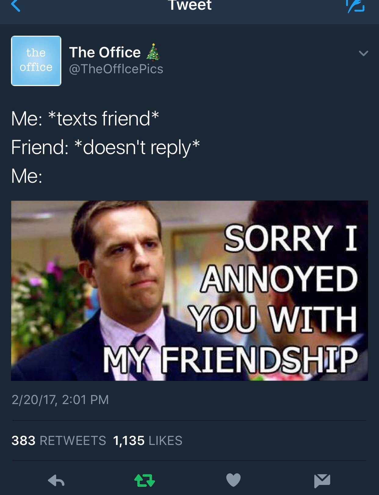 When The Office twitter knows your whole life story. - meme