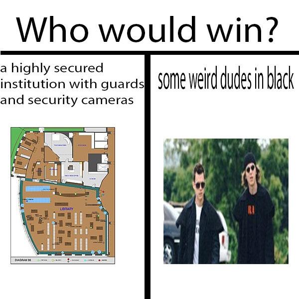 dudes in black - meme