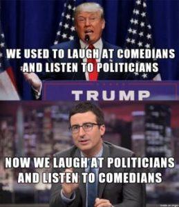 Trump the comedian - meme