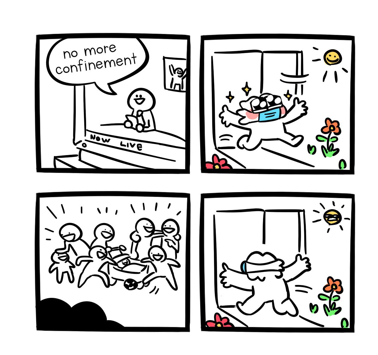 no, more confinement - meme