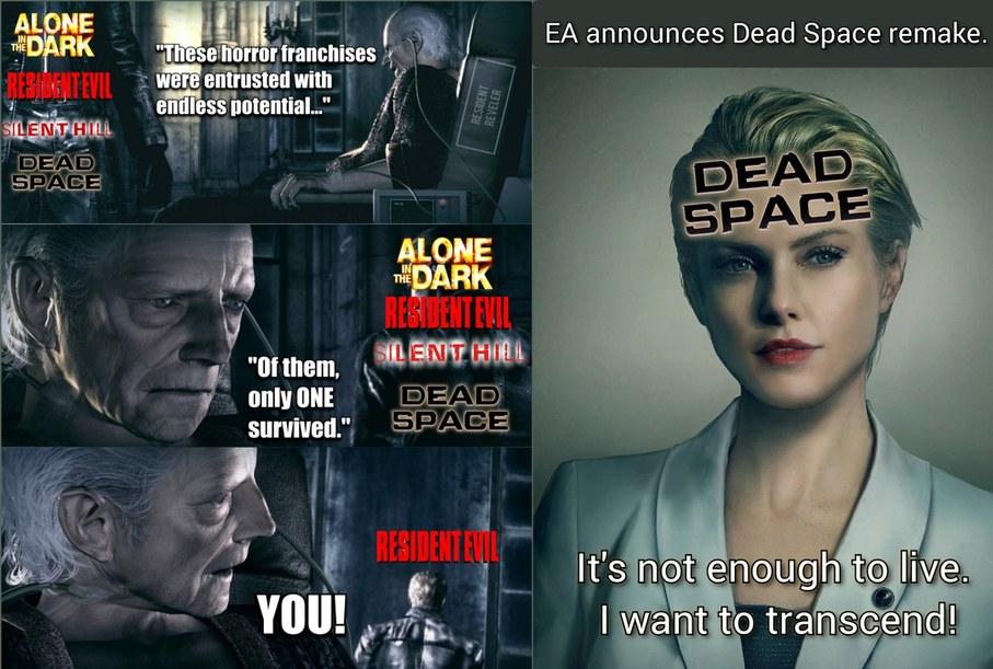 Resident Evil x Dead Space crossover meme