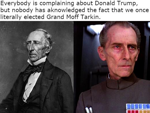 John Tyler took credit for the Death Star - meme