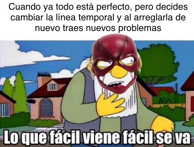 the flash resumido en un meme