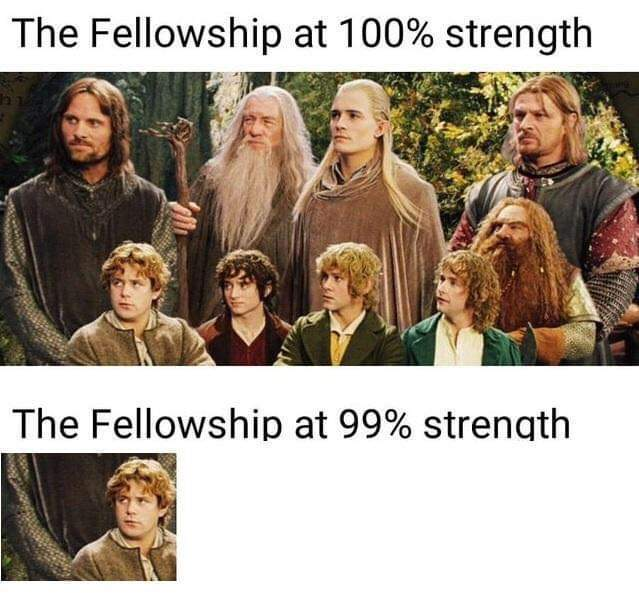 Lord of the rings was great - meme