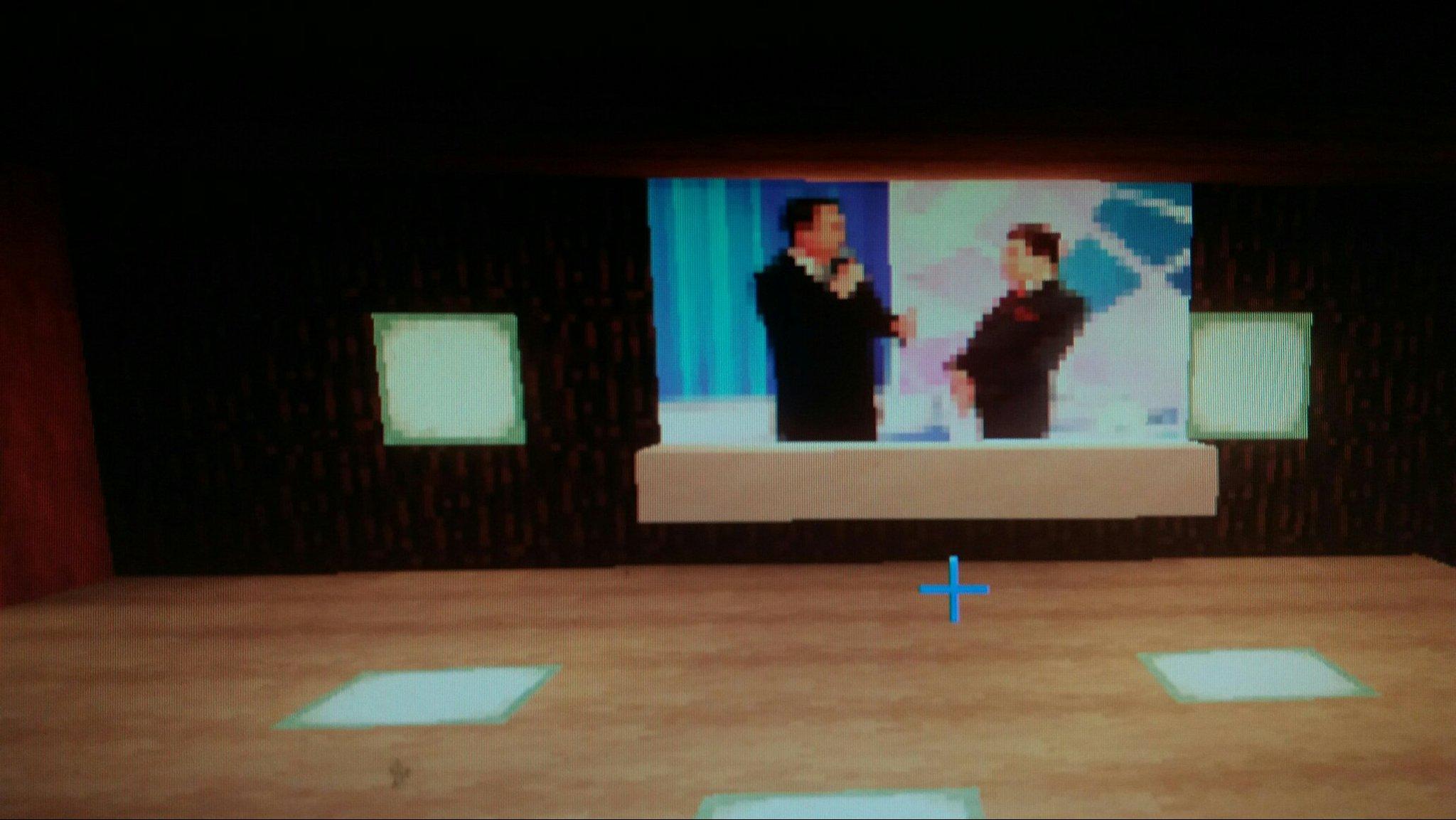 assistindo o bolsonaro no progama so Silvio Santos no Minecraft - meme