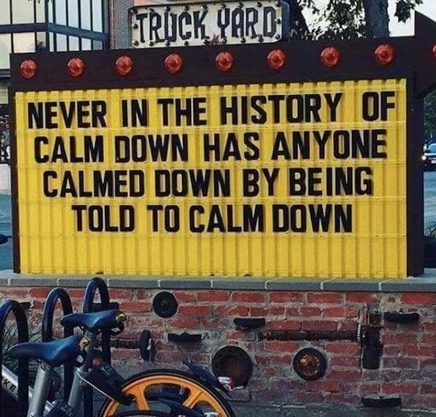 Calm down issues - meme