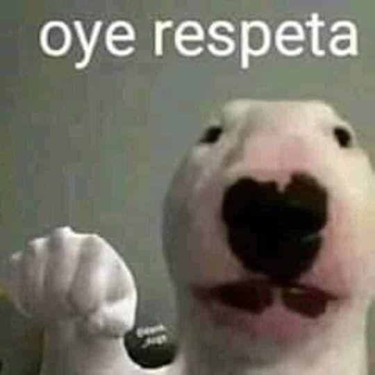 oye respeta - meme