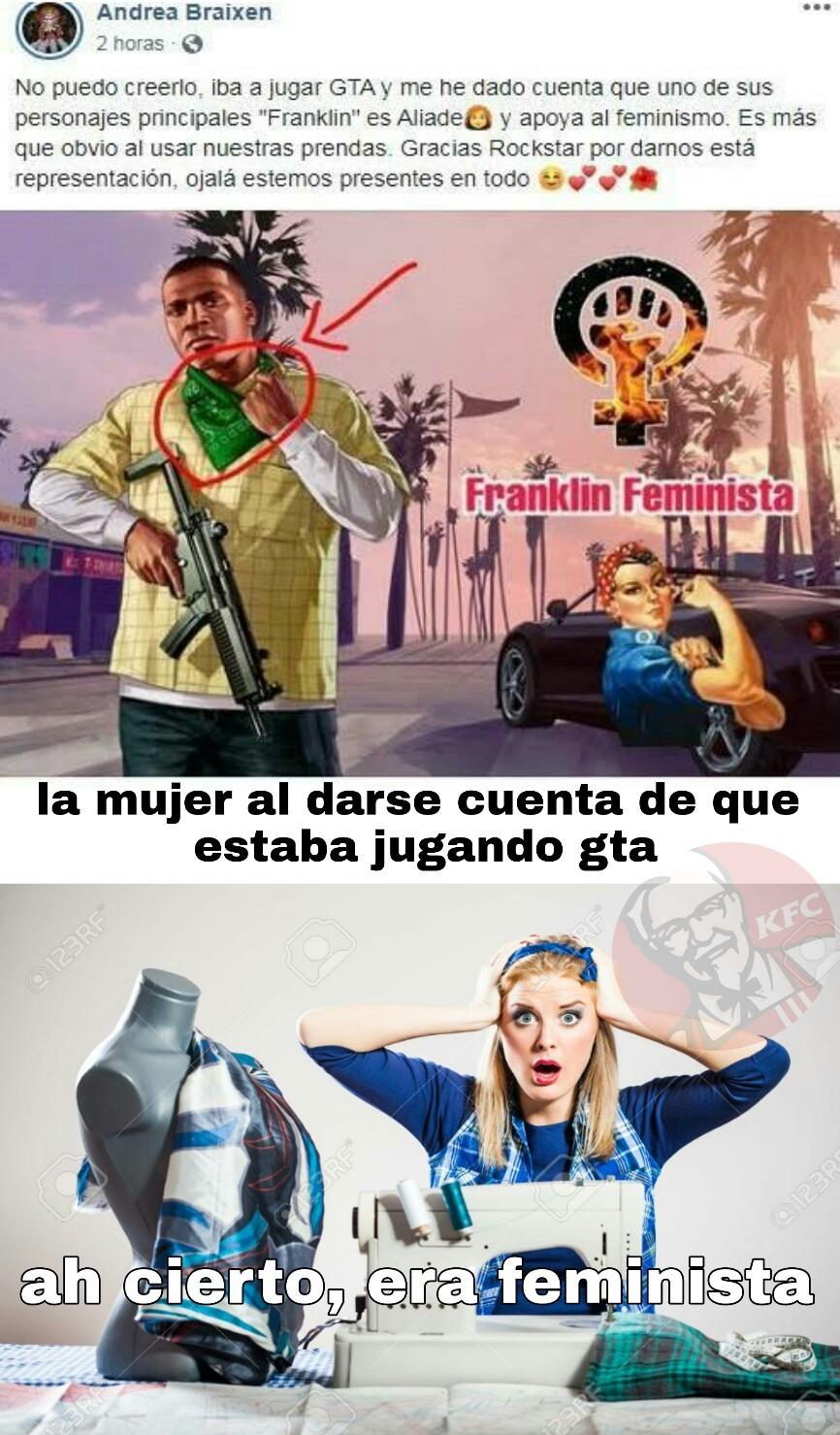 """Nomamen ere feministe *mujer asombrada"""" - meme"""
