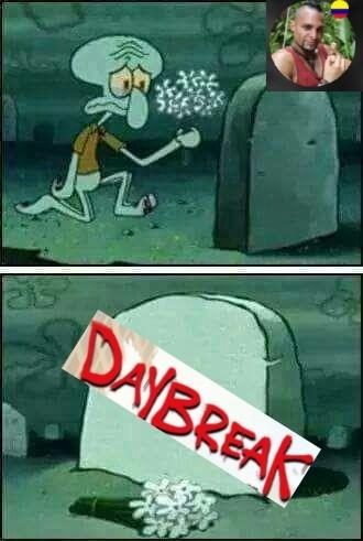 Contexto: DayBreak era una serie de netflix de bajo presupuesto decente pero no tuvo 2 temporada - meme