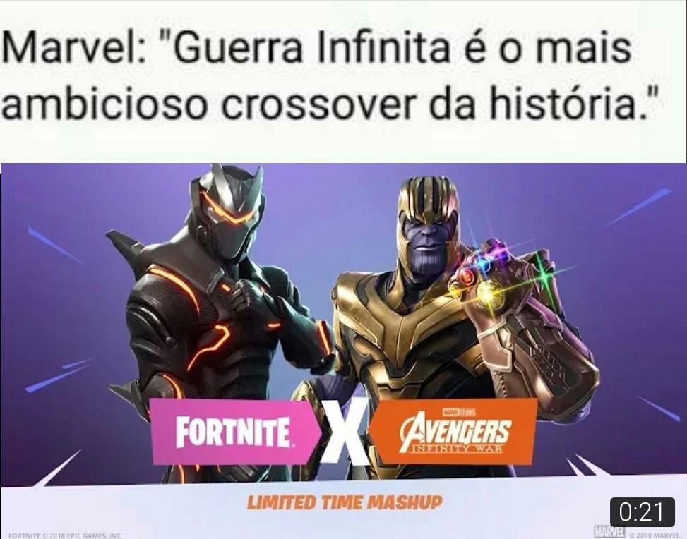Crossover do maior crossover - meme