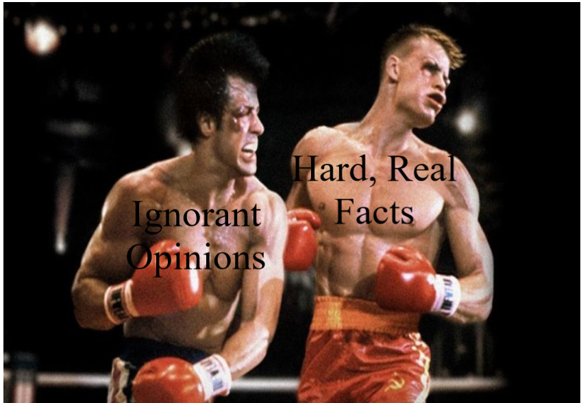 Facts hit hard but stupidity is unbreakable - meme