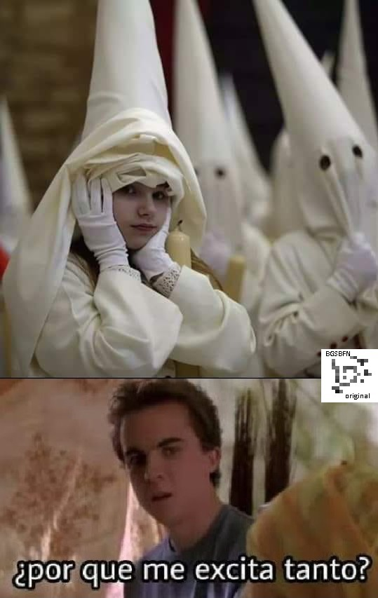 El título se unió al Ku Klux Klan - meme