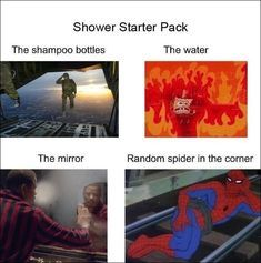 Shower Starter Pack - meme
