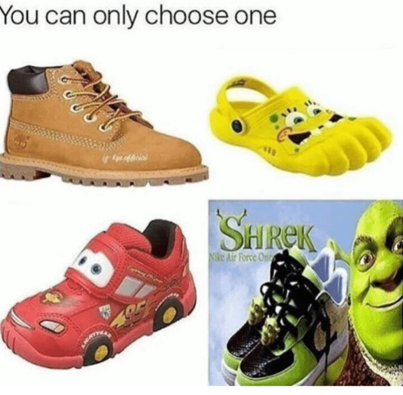 Shrek allll the way - meme
