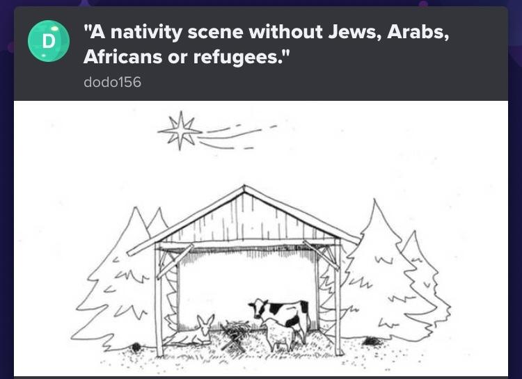 white nationalist nativity scene - meme