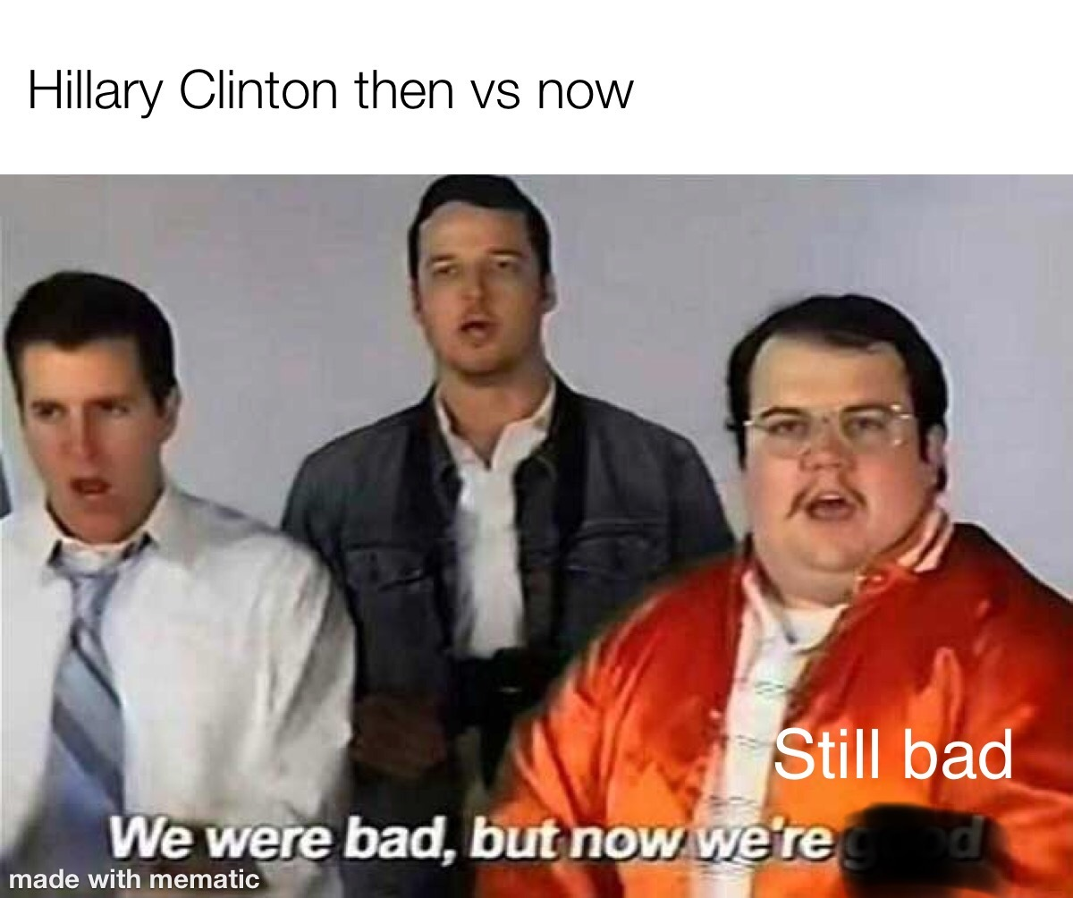 Sorry for the political meme. I just thought it was funny