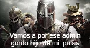 Crusader vs Admin Pt.2 - meme