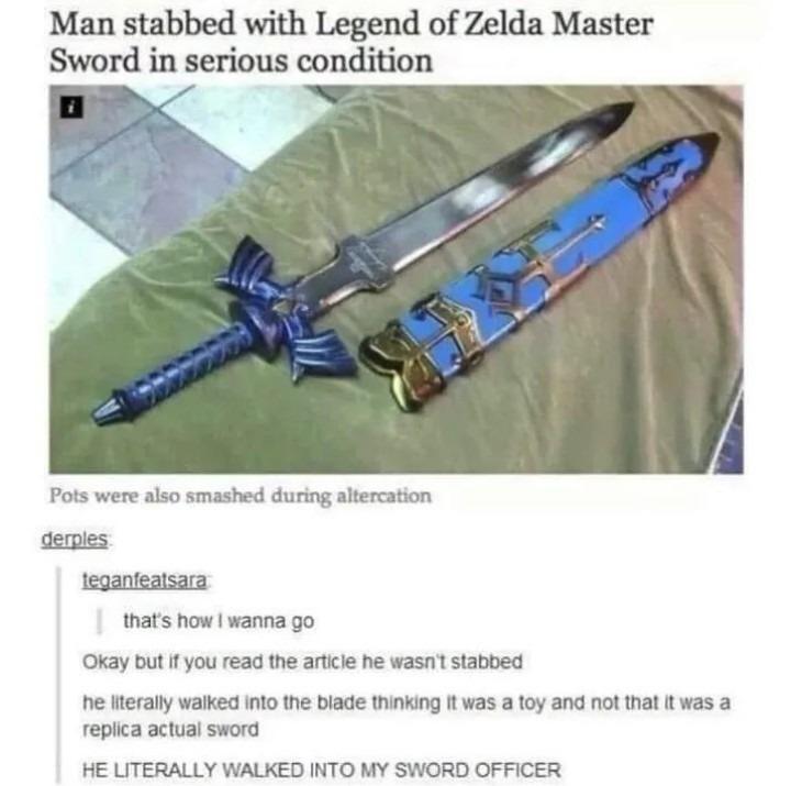 Master Sword - meme
