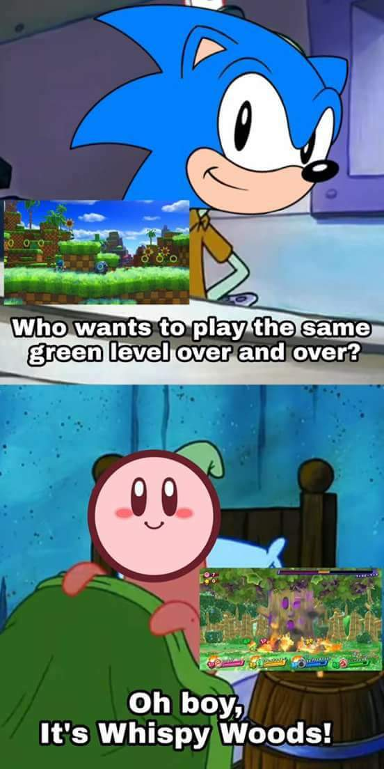 Same thing applies to world 1-1 in mario