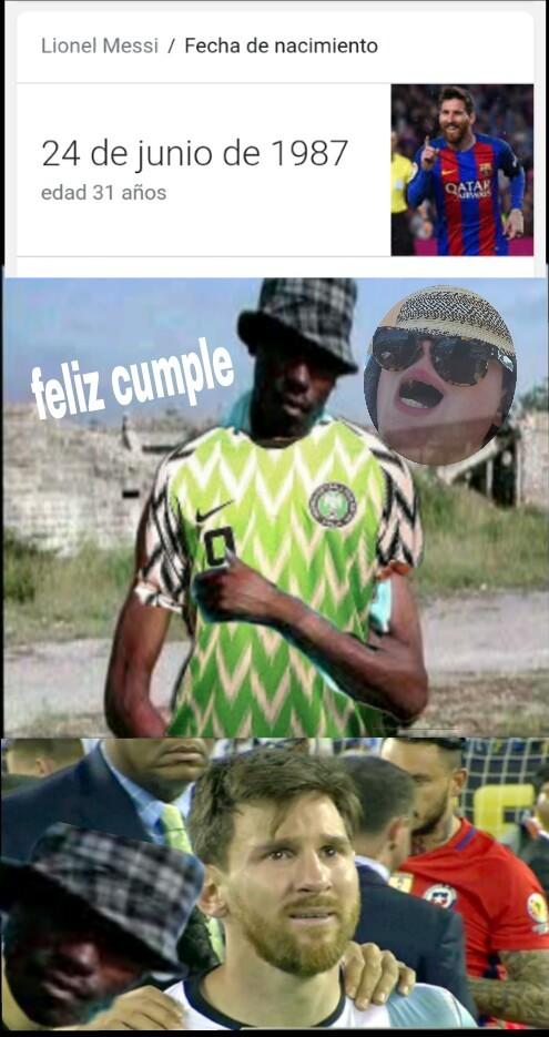 Argentina y Nigeria, esperemos que no sea así xD - meme