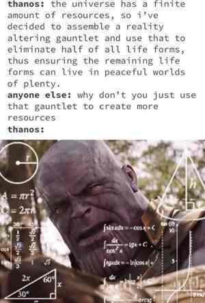 thanos did nothing wrong - meme