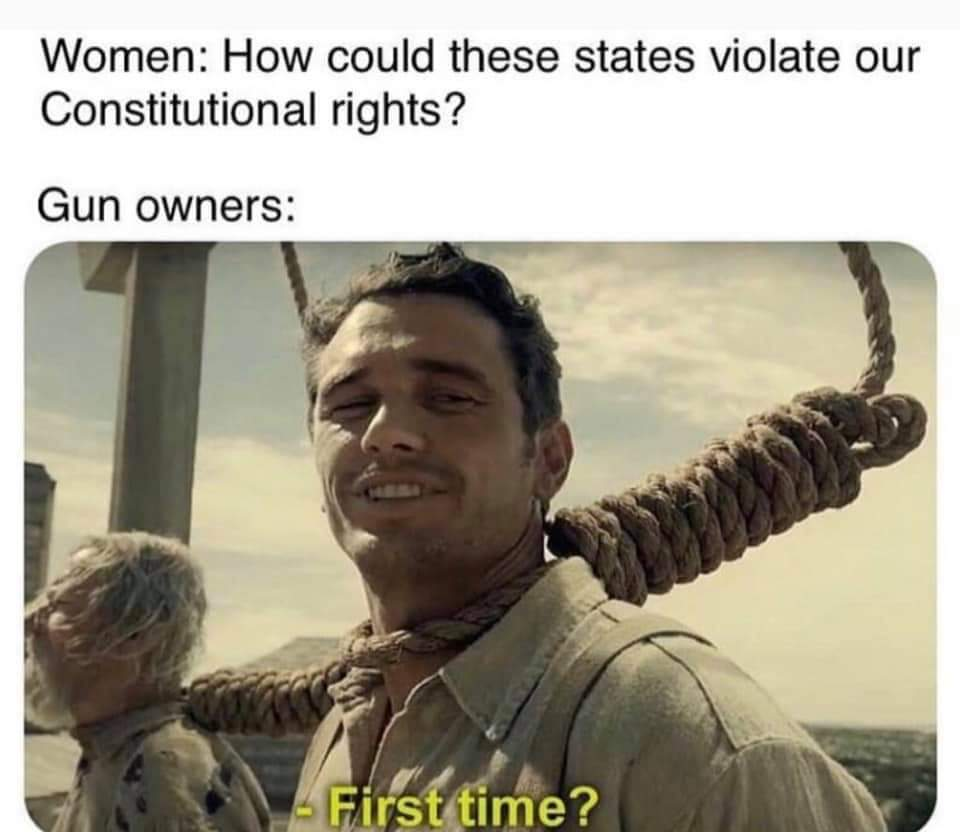All gun laws are unconstitutional - meme