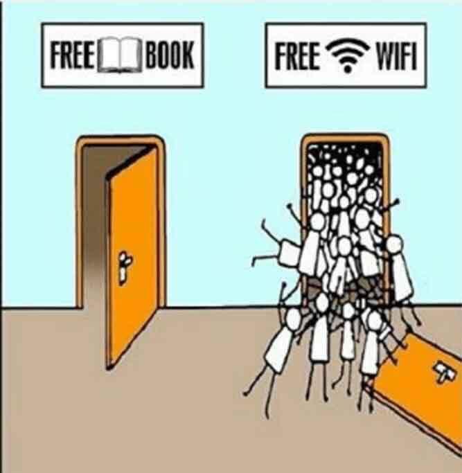 WI-FI VS BOOKS - meme