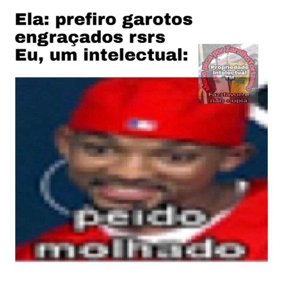 Intelectual do humor - meme