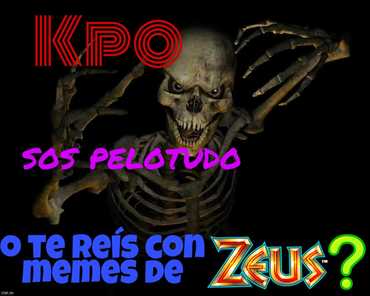Los memes de Zeus son una poronga