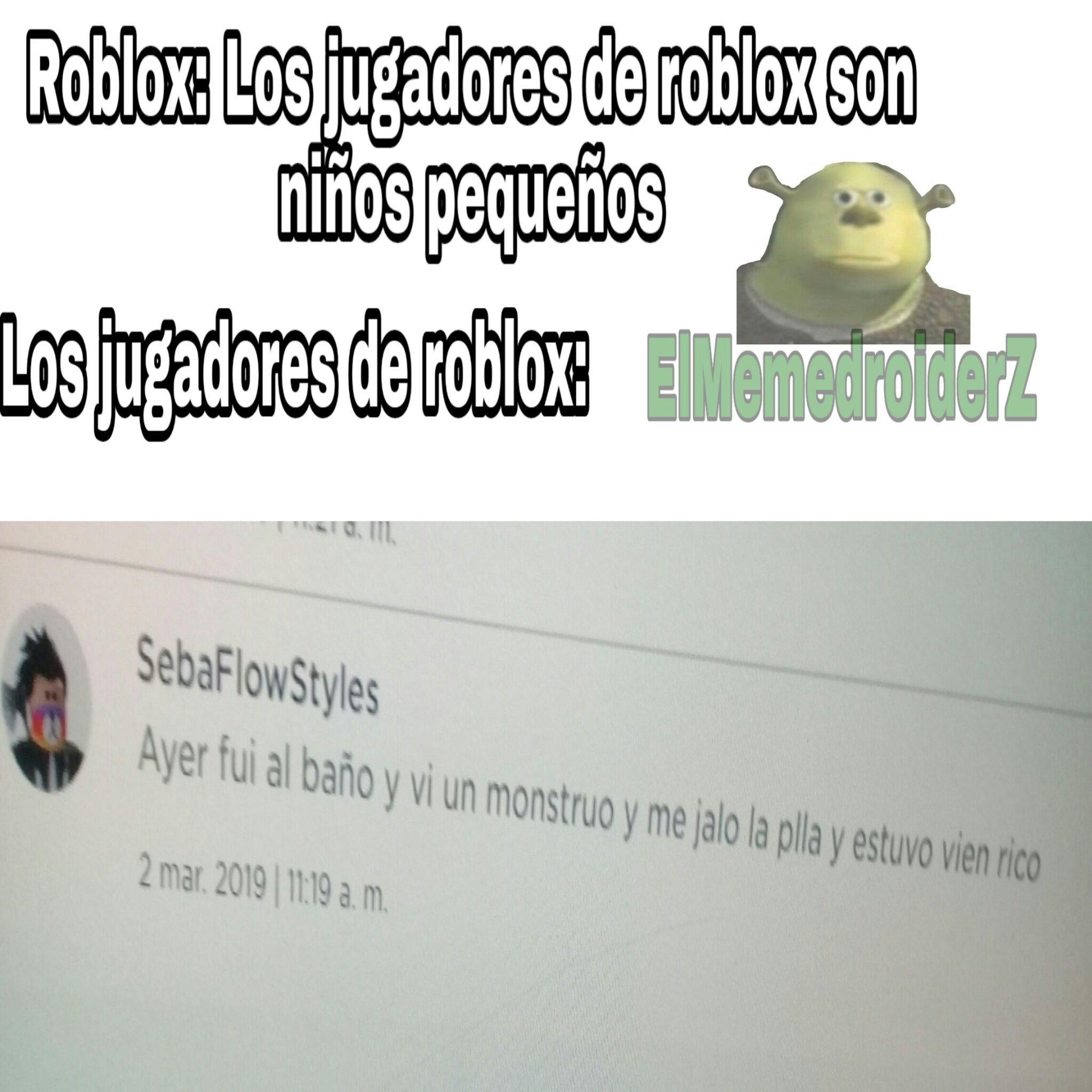 Estos de roblox - meme