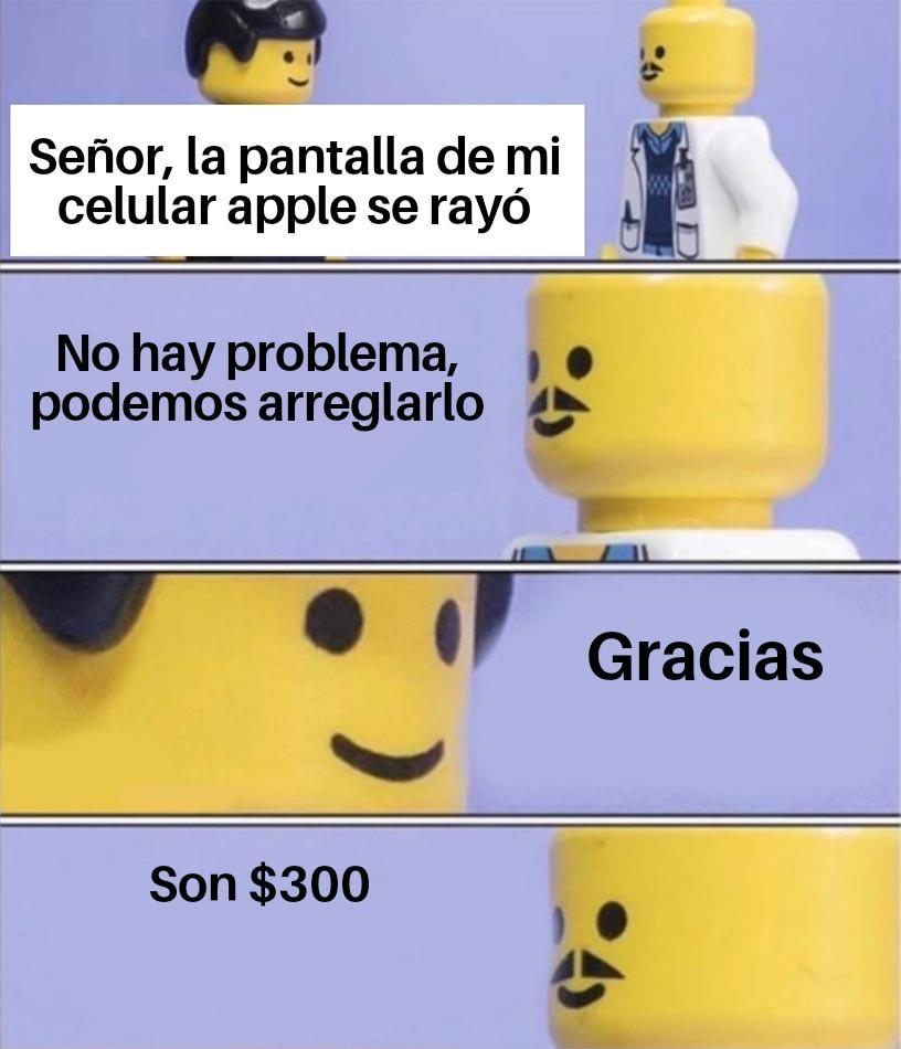 Apple es tacaño, siento mucho que tengan uno - meme