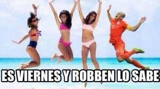 Ese Robben es un Loquillo - meme