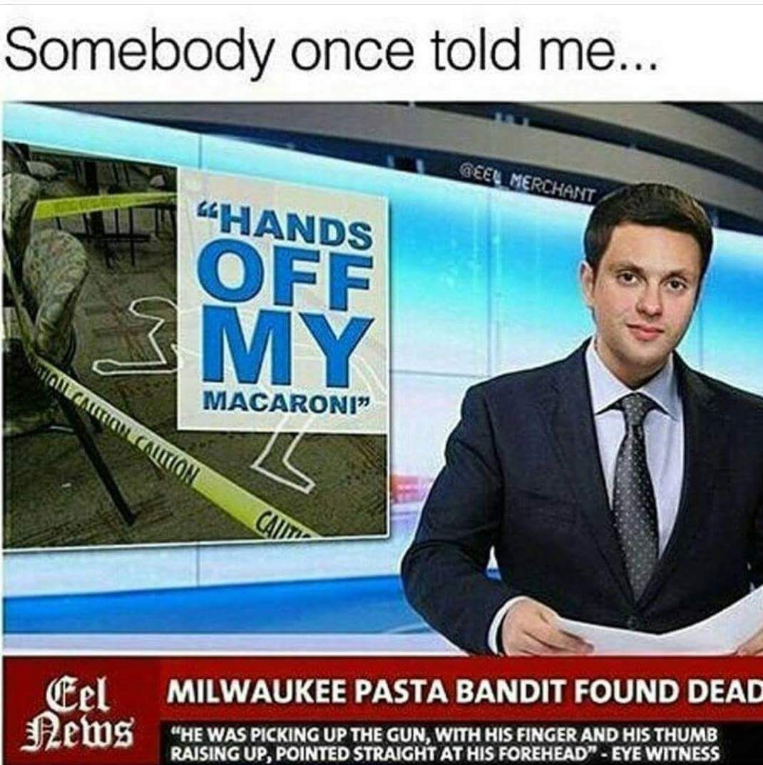My macaroni! - meme