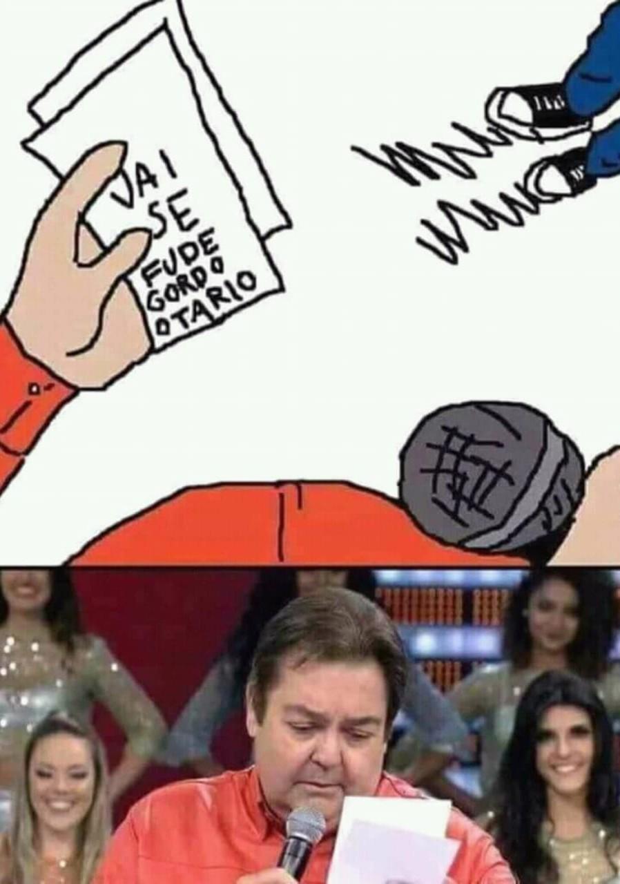 Faustão puto - meme