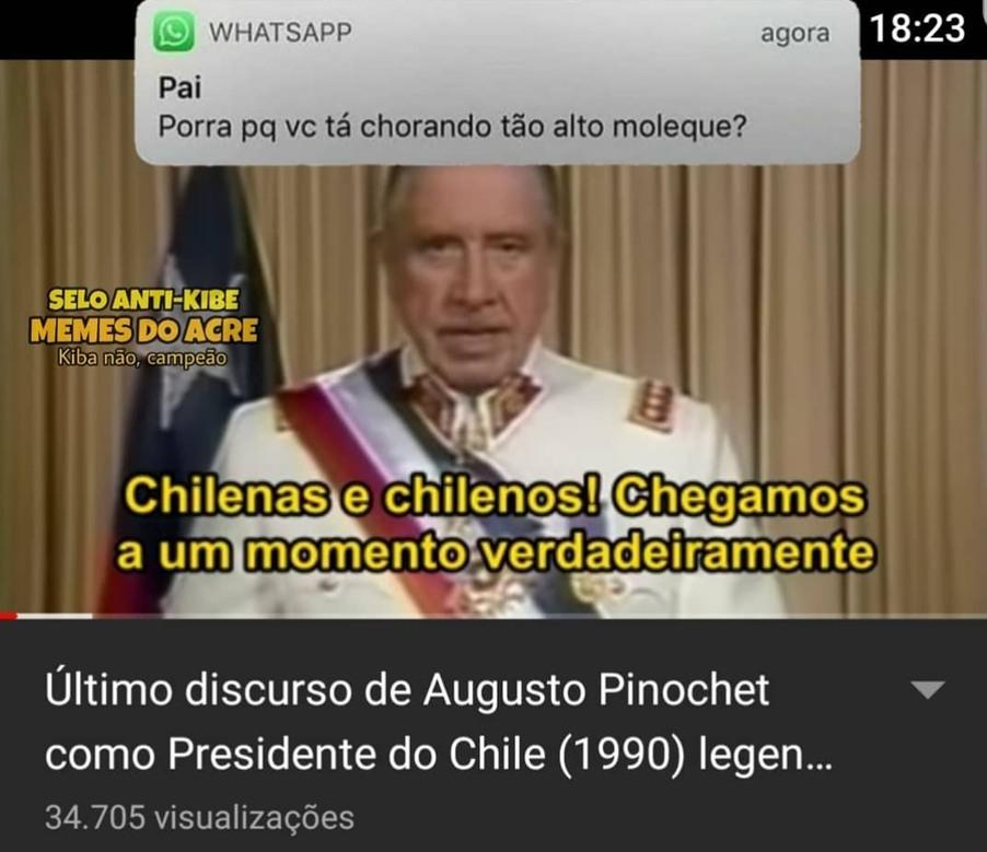 Pinochet n fez nada de errado - meme