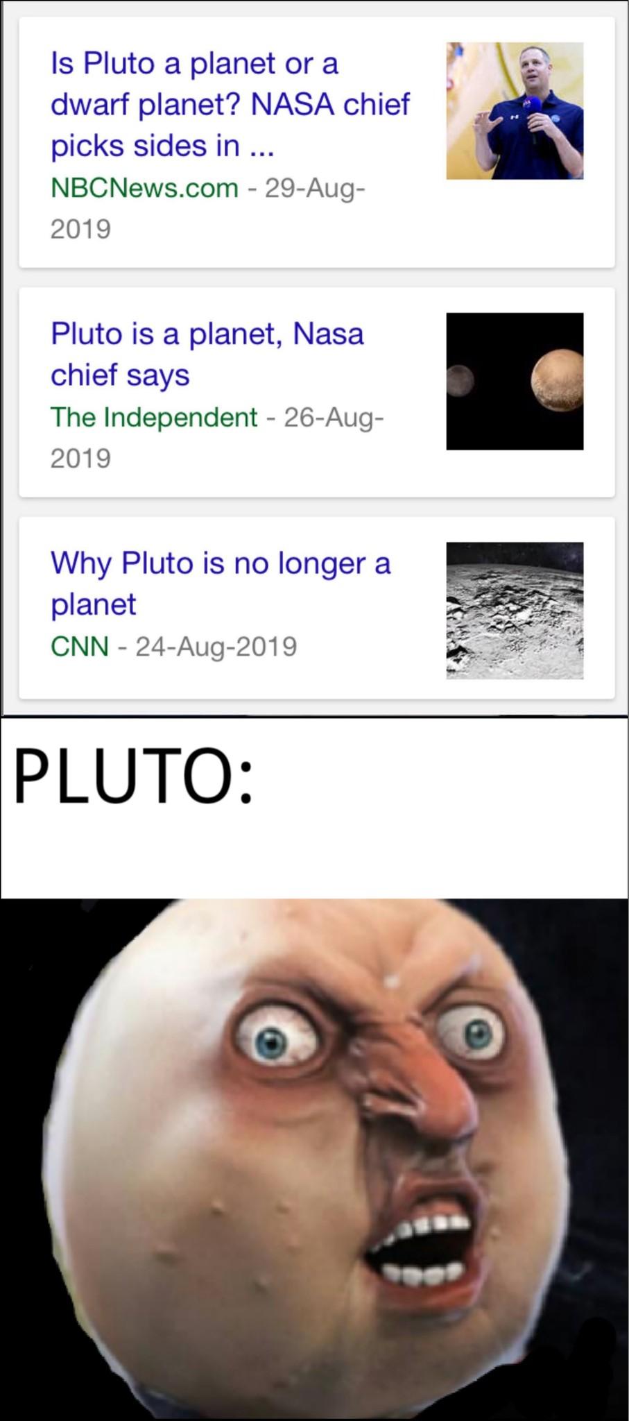 Pluto - meme