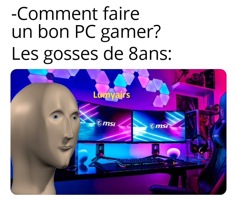 PC maître course - meme