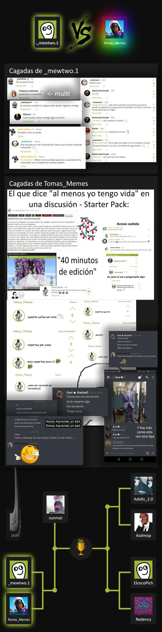 Kempf_el_afeminado vs Osol_Memes XD voten ninis voten