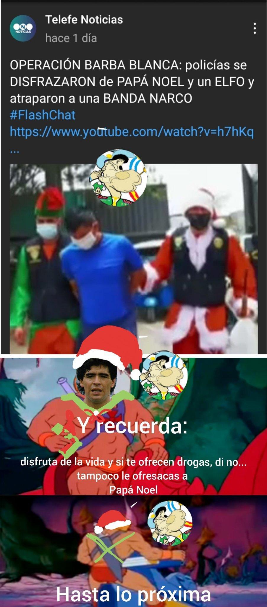 No a las drogas by Dieguito Maradona.......... por fa aceptenlo - meme